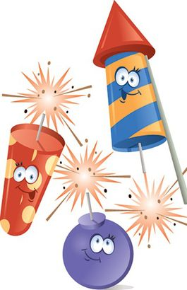Sparklers clipart cartoon #5
