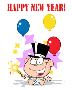 Sparklers clipart cartoon #4