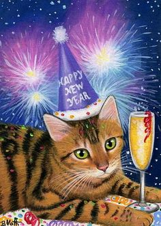 Sparklers clipart new years eve On cat Pin kitten New