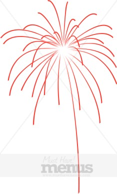 Sparklers clipart red firework Clipart Clipart Red Red Fireworks
