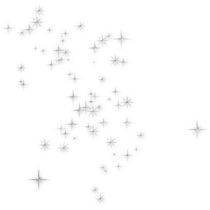 Sparkles clipart black and white #14