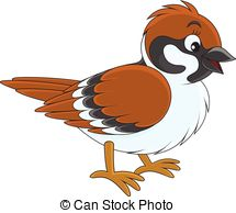 Sparrow clipart Illustrations Vector  illustration vector