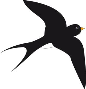 Black clipart sparrow Vector at Clip Clip Clker