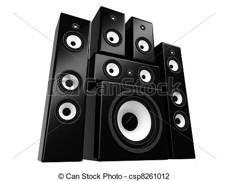 Speakers clipart On  Speakers isolated csp8261012