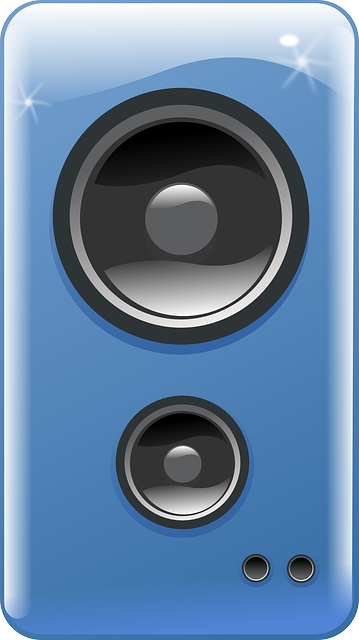 Speakers clipart blue Computer Art to Domain Public