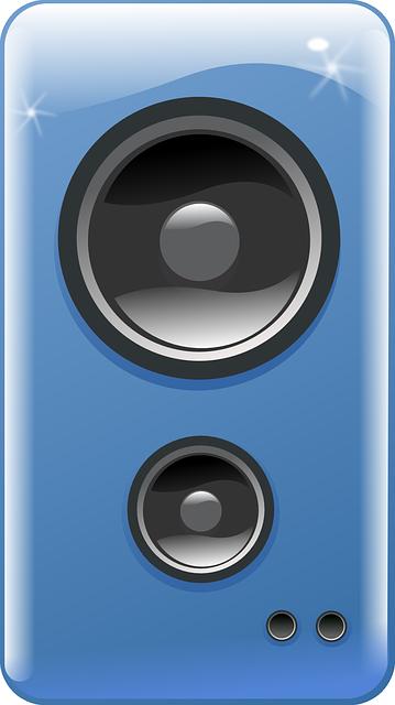 Speakers clipart blue Speaker Art Domain Blue –