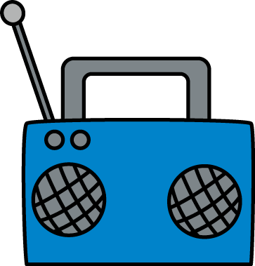 Speakers clipart blue Clip Blue with Radio and