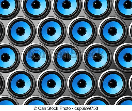 Speakers clipart blue Blue blue of three wall