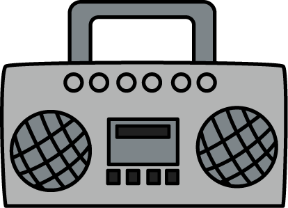 Speakers clipart boombox Boombox Art Image antenna Boombox