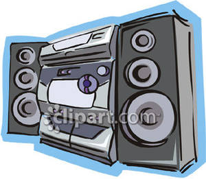 Speakers clipart boombox Large Picture Royalty with Clipart