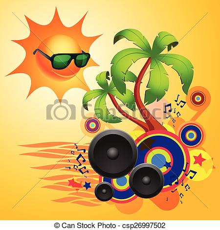 Speakers clipart disco Dance with with of Tropical