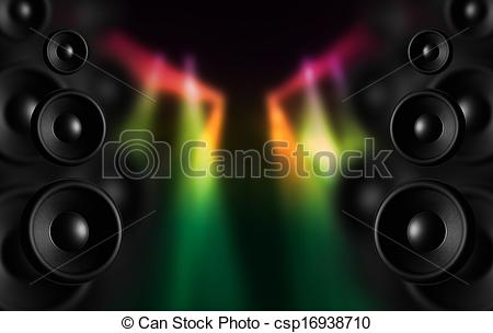 Speakers clipart disco And Art Colorful Dark Dancefloor