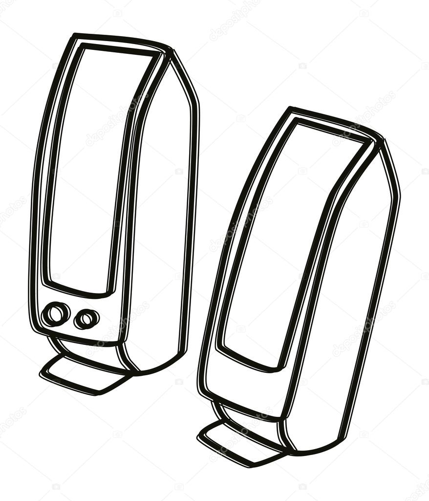 Speakers clipart drawn Computer source Download pic Computer