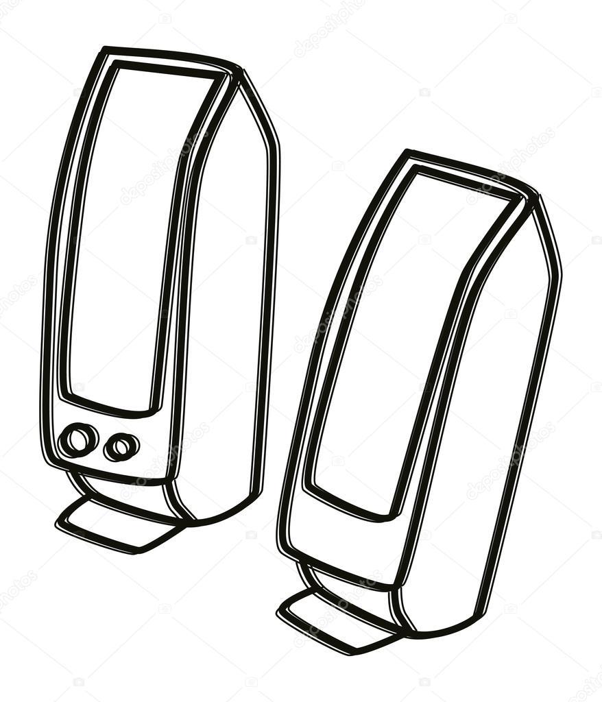 Speakers clipart drawn Sketch Speaker source ic Computer