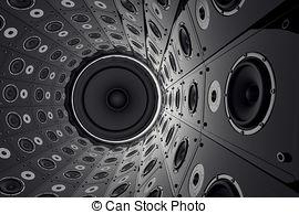 Speakers clipart drawn  712 101 Audio Stock