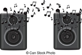Speakers clipart graphic Music two Melody2 Illustration Speakers