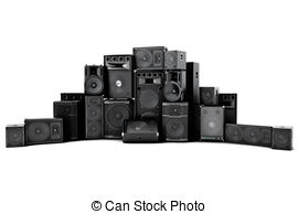 Speakers clipart graphic Loud on Speakers of