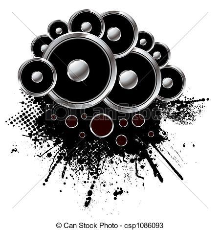 Speakers clipart graphic Style Illustration speaker of grunge