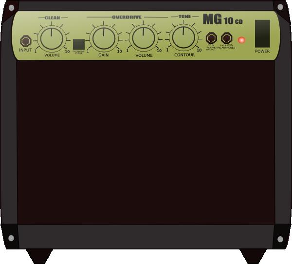 Speakers clipart guitar amplifier Com Speaker vector image Clker