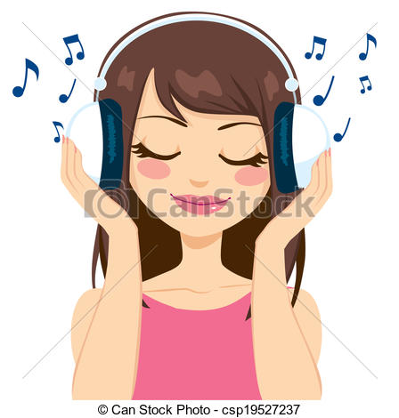 Speakers clipart hearing music Woman free Beautiful royalty 839