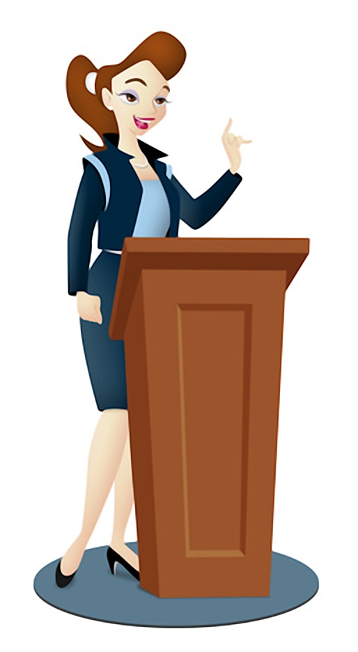 Speakers clipart lady Read DURING CONFERENCE THE