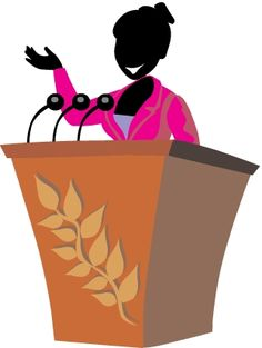 Speakers clipart lady The Over speaking course the
