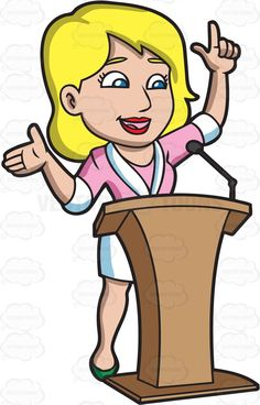 Speakers clipart lady Behind An Woman Energized Her
