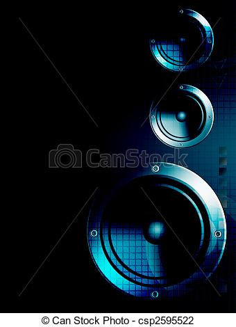 Speakers clipart light sound Music speakers  Art speakers