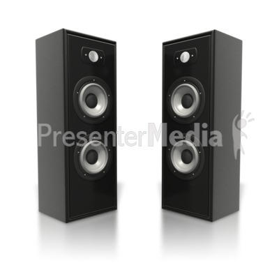 Speakers clipart light sound ID# 5393 PowerPoint Towers Audio