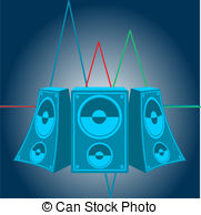 Speakers clipart light sound  Music effects Clip Music