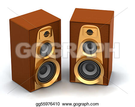 Speakers clipart loud sound Drawing Stock Illustration speakers Great