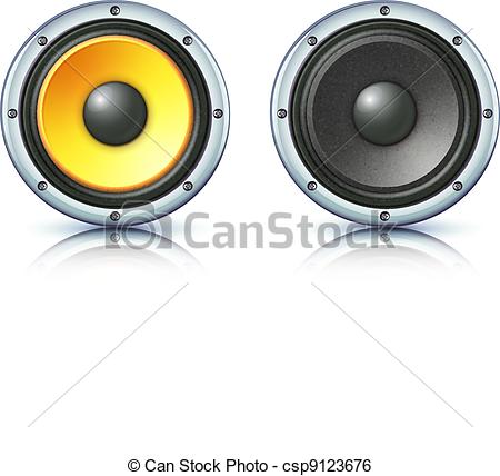 Speakers clipart loud sound  Vector sound Clip speakers