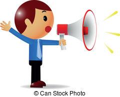 People clipart loudspeaker Man Stock illustration Man of