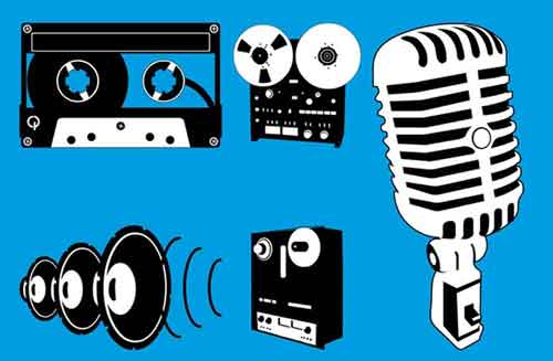 Speakers clipart music studio Graphics Download to Vector Clip