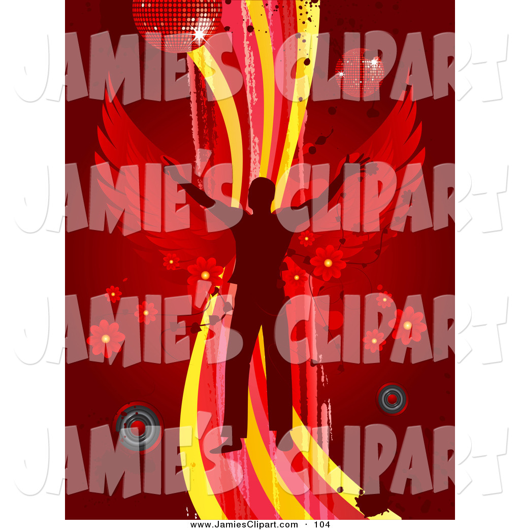 Speakers clipart red Free Dancing Red Jamie's with