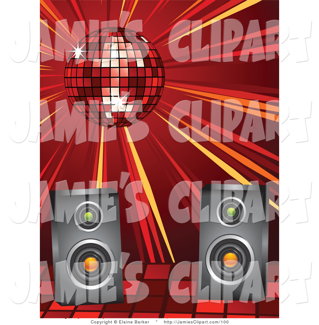 Speakers clipart red Casting Royalty Ball a Spinning