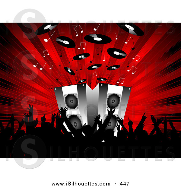 Speakers clipart red Audience on a Front Waving
