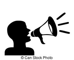 Speakers clipart silhouette Megaphone free silhouette Illustrations and