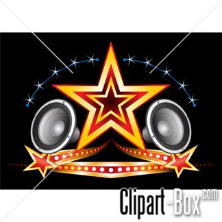 Speakers clipart simbol STAR with on vector Speakers