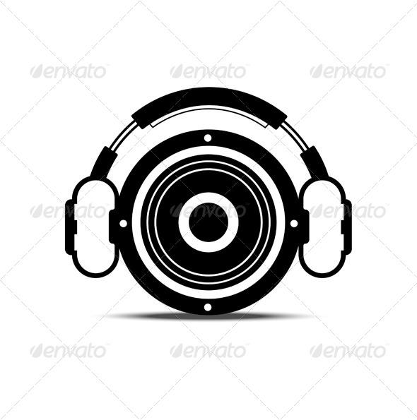 Speakers clipart simbol Speaker Headphone Symbol and illustrations