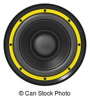 Speakers clipart white background 351 of Clipart and yellow