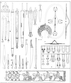 Spear clipart iron age Tène Finds