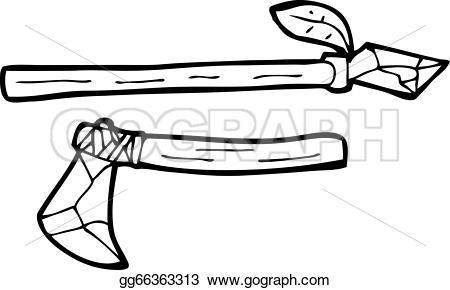 Spear clipart primitive Cartoon Vector spear primitive Drawing