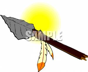 Spear clipart primitive Feathers Spear Image: A Spear