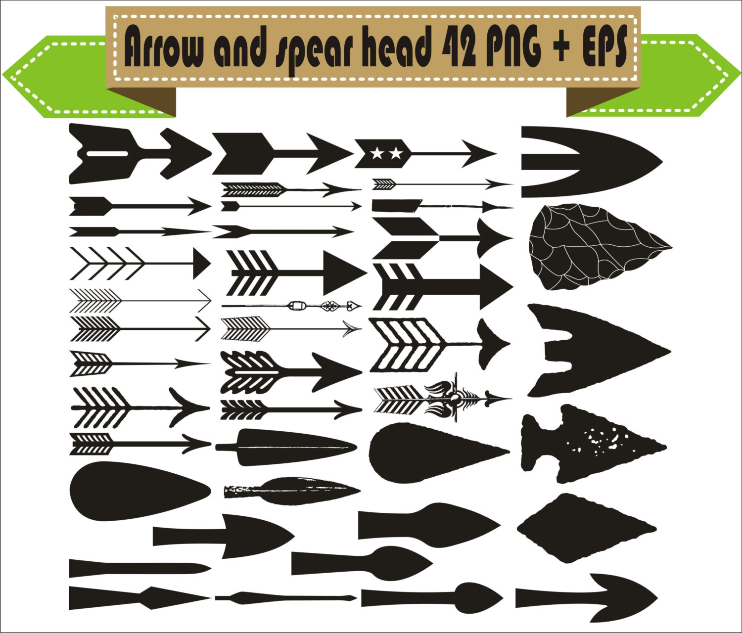 Spear clipart silhouette Weapon Hunter Arrow head This