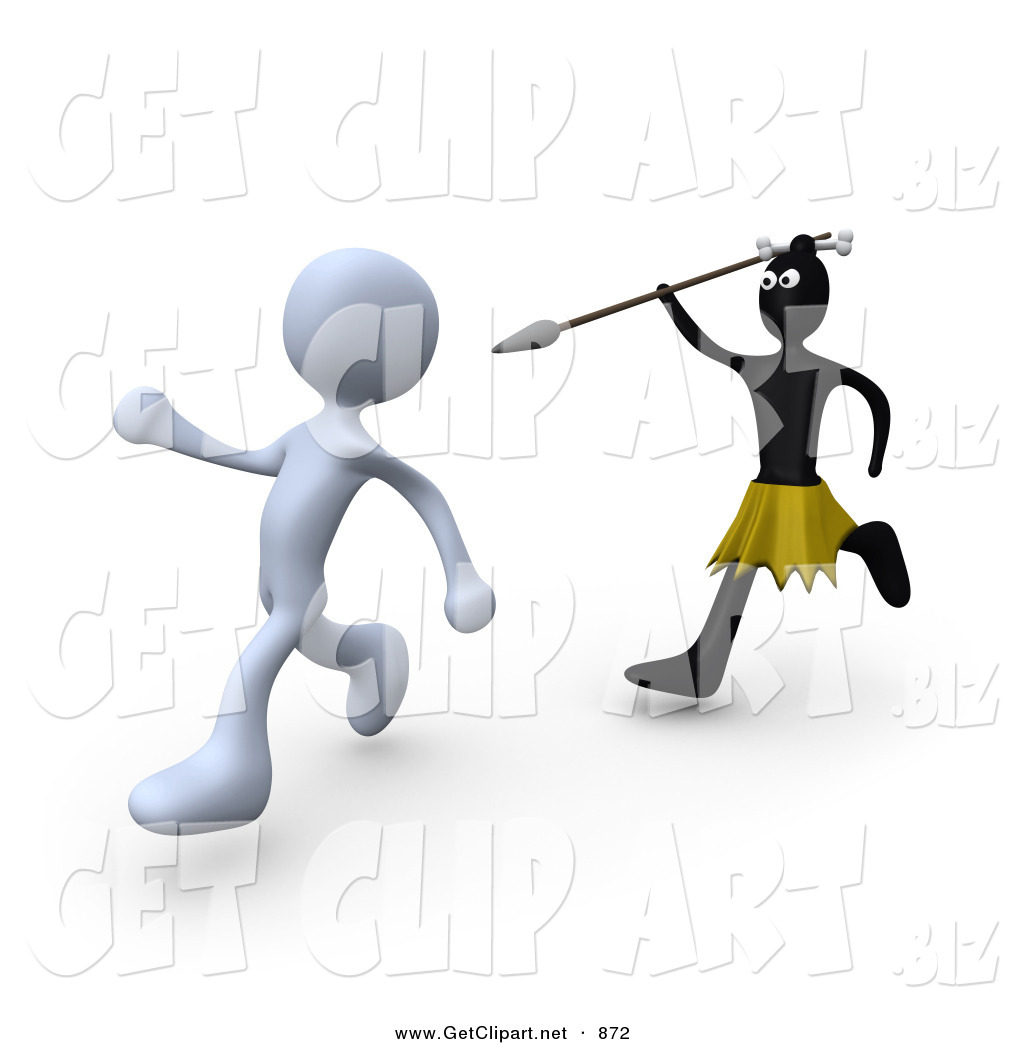 Spear clipart zulu Trying a to with White