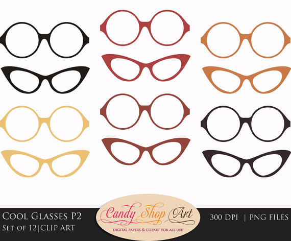 Spectacles clipart cool glass Glasses Clipart Clip Cool Instant