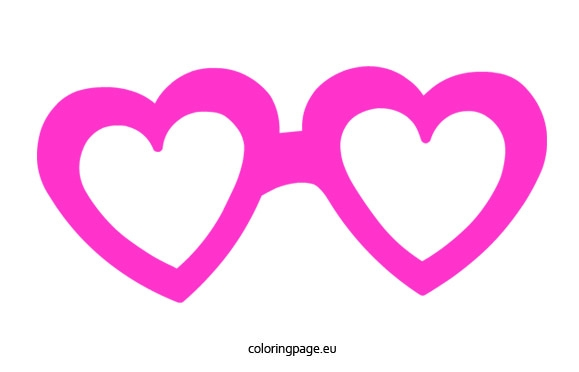 Spectacles clipart pink glass Glasses Heart Clip Heart Art