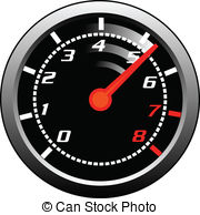 Speedometer clipart fire Illustrations 7 Speedometer  Tachometer
