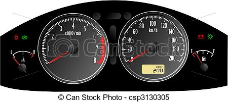 Speedometer clipart acceleration Vector clipart of Clipart Car